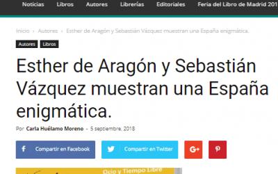 Esther de Aragón y Sebastián Vázquez en Casa de Letras.